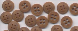 B4H-5143L24 15mm 4 Hole Brown Buttons (1000pcs)
